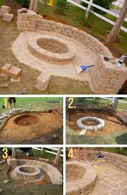 building fire pit in backyard 27 awesome diy firepit ideas for your yard half walls stone and