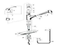 single handle kitchen faucet repair moen 7400 kitchen faucet repair diagram hum home review