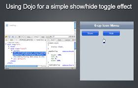 jquery ui layout init hidden using dojo for a simple show hide toggle effect coderseye com