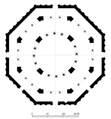 floor plan of dome of the rock jerusalem archnet