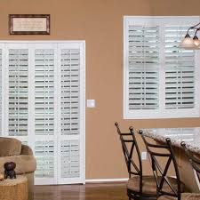 Plantation Shutters On Sliding Patio Doors by Plantation Shutters For Sliding Glass Doors The Finishing Touch