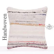 Modern Square Rug Decorative 16x16 Kilim Rug Pillow Square Contemporary Cushion