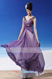 creative fox evening dress v collar purple wedding dresses