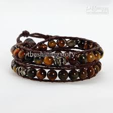 leather bracelet jewelry images 2018 bracelets beaded beaded leather wrap bracelet leather men jpg