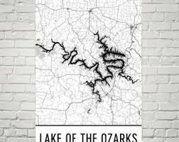 ozarks map lake of ozarks map etsy