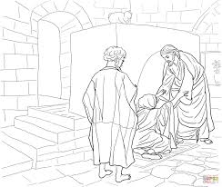 jesus calls peter and andrew coloring page free printable