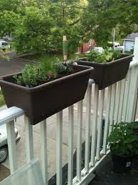 beautiful deck rail planters planter designs ideas