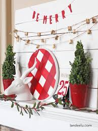 christmas mantel decor diy christmas mantel decorating ideas the budget decorator