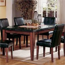 black granite table top black granite dining table top looks good in a modern dining room