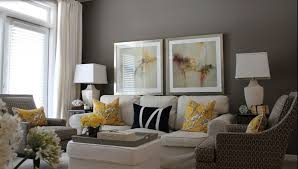 Yellow And Grey Home Decor Home Design Copper Accents White House Exterior Within Yellow