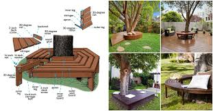how to build a bench around the tree in your yard