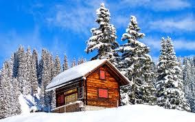 winter white nature house lovely blue cabin splendor snowy snow