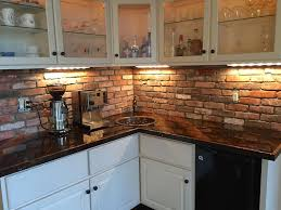kitchen with brick backsplash inspiring brick veneer kitchen backsplash 15 for room decorating