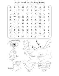word search puzzle body parts download free word search puzzle