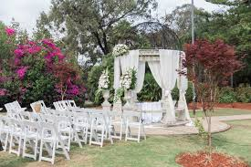 white washed romantic wedding in a garden bridal magic
