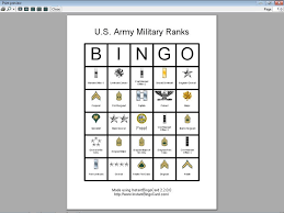 s day bingo view document u s army ranks bingo cards