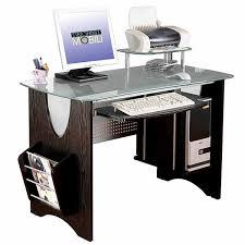 stylish computer desk rta products llc techni mobili stylish frosted glass top computer