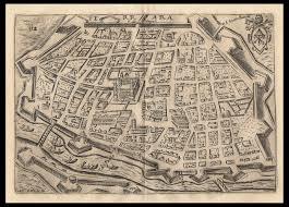 Ferrara Italy Map by Ferrara Perspective Map Scoto Andrea Views Ancient Prints