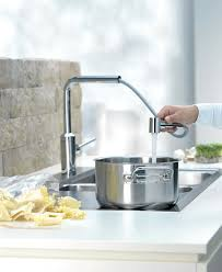 kitchen pull out faucet telescopic kitchen pull out faucet by kludi germany kitchen