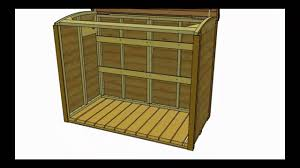 garbage can storage shed oscar assembly video by outdoor living
