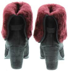 ugg layna sale ugg layna fur top boots in black