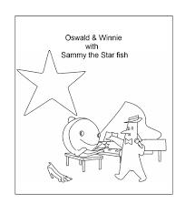 sammy the starfish coloring printable page