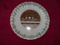 lord s supper plates vintage sanders supper glass plate 20 00 picclick