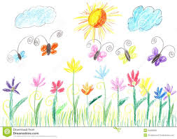 colored pencil and butterfly drawing stock photo image 63544169