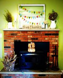 thanksgiving fireplace decorations mantel decorations