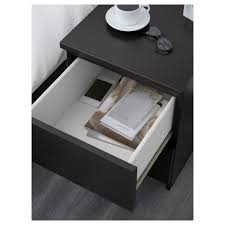 white stained bed side table with three drawer and rounded malm 2 drawer chest black brown 15 3 4x21 5 8 ikea