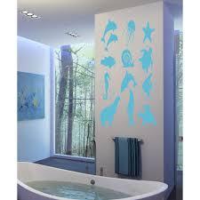 online shop underwater fish dolphin wall stickers decals art underwater cracked cave aquarium dolphin fish 3d wall art sticker
