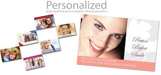 personalized postcards cosmetic dental postcards
