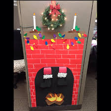 christmas cubical decor christmas decor pinterest