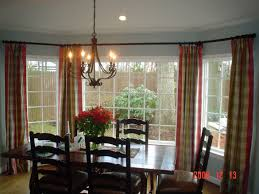 Modern Bay Window Curtains Decorating Living Room Amazing Plaid Colorful Modern Window Treartments