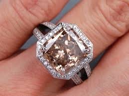 chocolate wedding rings 5 62 carats ct tw radiant cut engagement ring