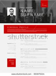 vector minimalist cv resume template colorful stock vector