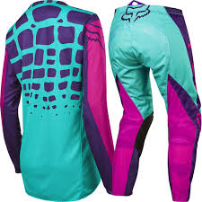 motocross gear set fox 2017 mx new 180 purple pink seafoam jersey pants womens