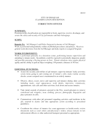 Resume Other Activities Correctional Officer Job Description Resume Resume For Your Job