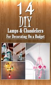 Decorating A Chandelier 14 Diy Lamps U0026 Chandeliers Ideas For Decorating On A Budget