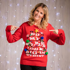 light up baubles christmas jumper by instajunction