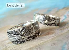 cool rings design images Unique wedding rings silver wedding bands sterling silver etsy jpg