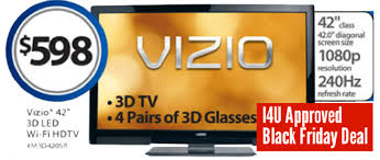 best tv sale deals black friday black friday 3d tv deal 598 42 inch vizio m3d420sr 3d led 240hz