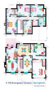 House Layout Plans House Of Simpson Family Both Floorplans By Nikneuk On Deviantart