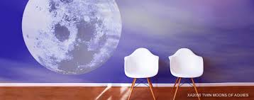 moon murals lunar scene wallpaper