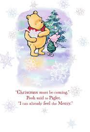 winnie the pooh very merriest christmas card greeting cards