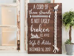3 cords wedding ceremony cord of three strands sign 3 cord wood ceremony sign unity