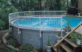 Above Ground Pool Landscaping Ideas Above Ground Pool Deck Fencing Pool Deck Coating Pool Deck Ideas