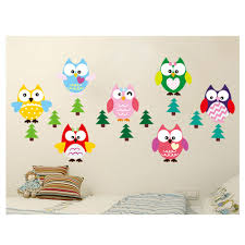 wall sticker decoration cheap china online china buy suppliers removable wall decal wall stickers 8 owls diy wallpaper art decals mural for room home decoration