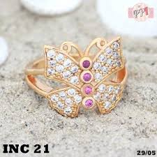 cincin lapis emas cincin lapis emas berlian butterfly permata rubbi gold lapis emas