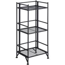 convenience concepts designs2go metal folding 3 shelf bookcase